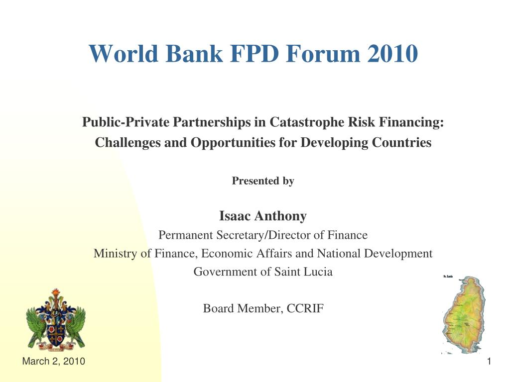 World Bank FPD Forum 2010