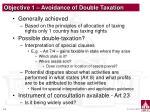 objective 1 avoidance of double taxation
