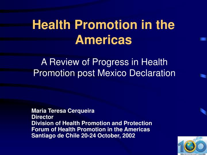 Health promotion in the americas