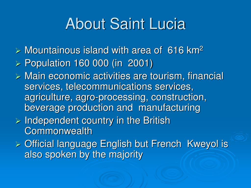 About Saint Lucia