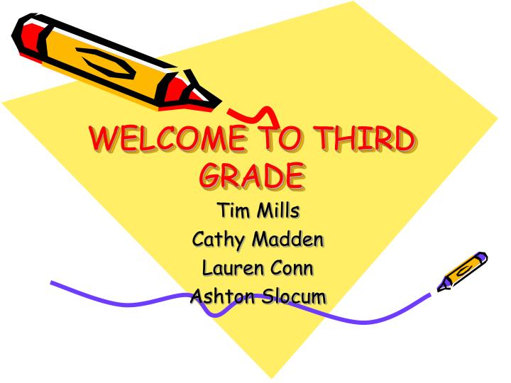 welcome to third grade n.