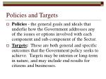 policies and targets