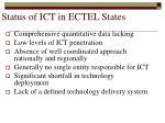 status of ict in ectel states