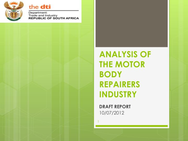 analysis of the motor body repairers industry n.