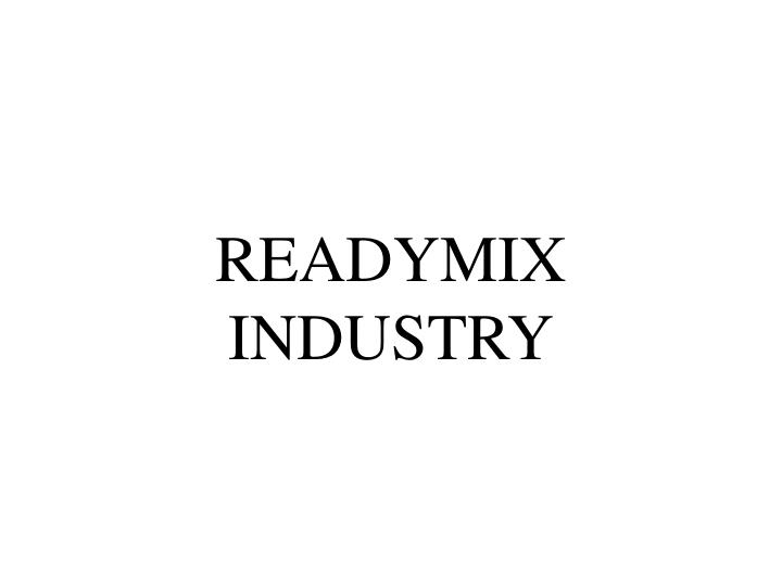 readymix industry n.