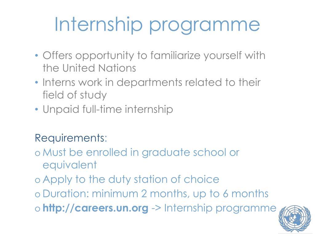 Internship programme