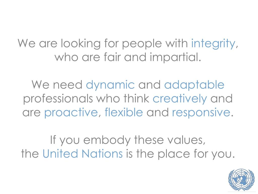 We are looking for people with