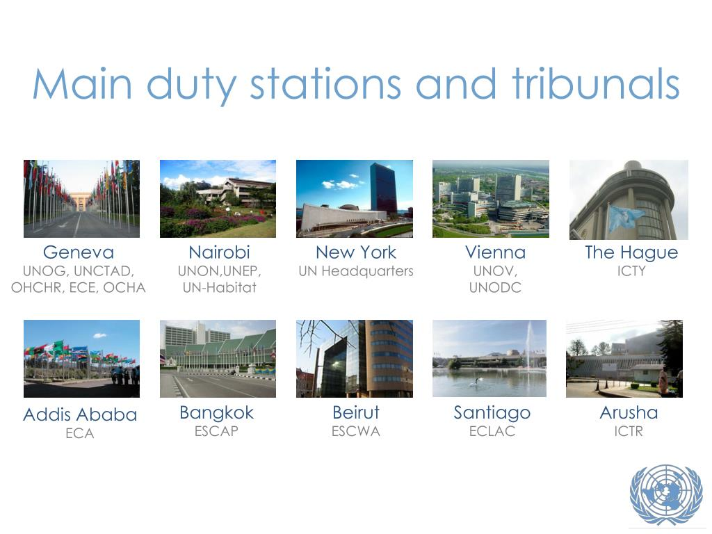 Main duty stations and tribunals