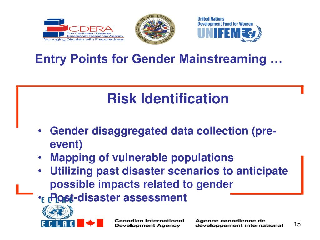Entry Points for Gender Mainstreaming …