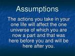 assumptions6