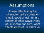 assumptions7