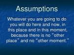 assumptions9