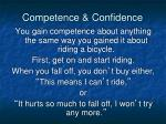 competence confidence