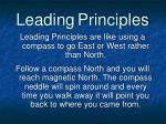 leading principles