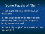 some facets of spirit1