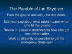 the parable of the skydiver face the ground and enjoy the ride down