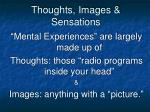 thoughts images sensations