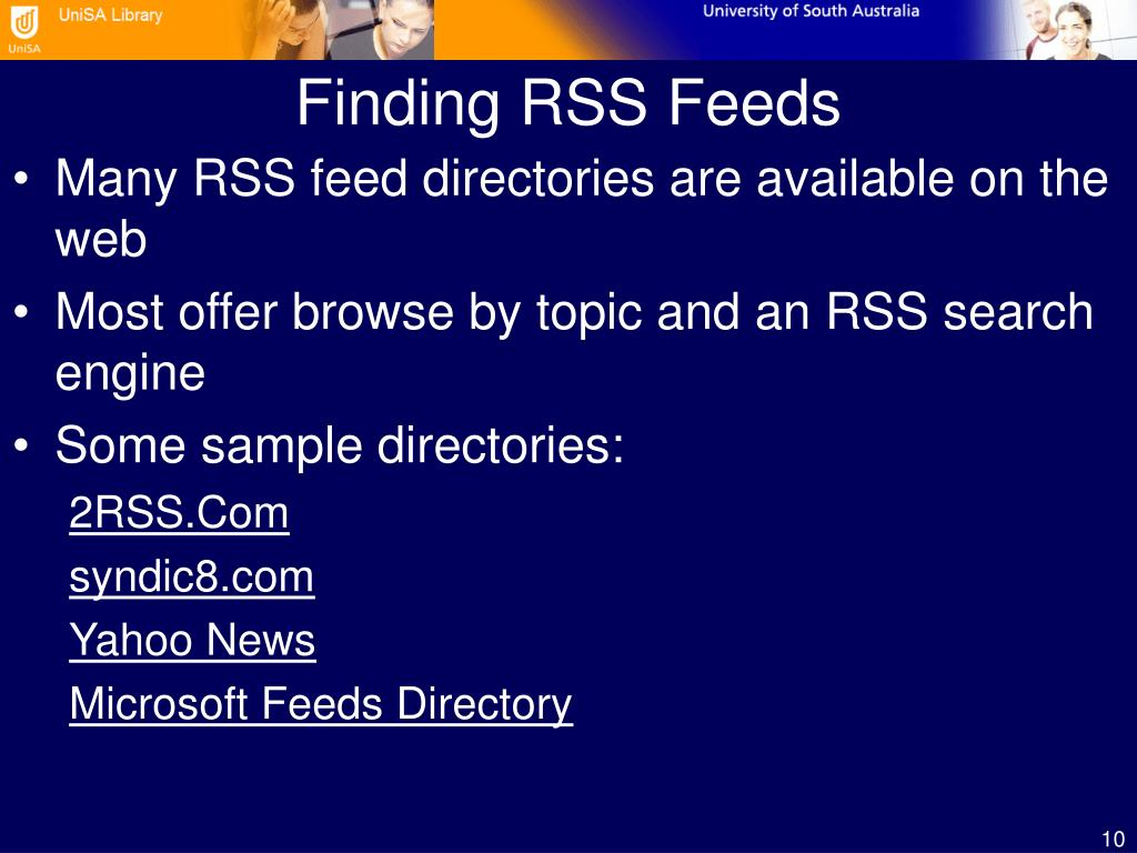 Finding RSS Feeds