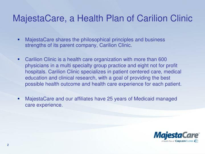 Majestacare a health plan of carilion clinic