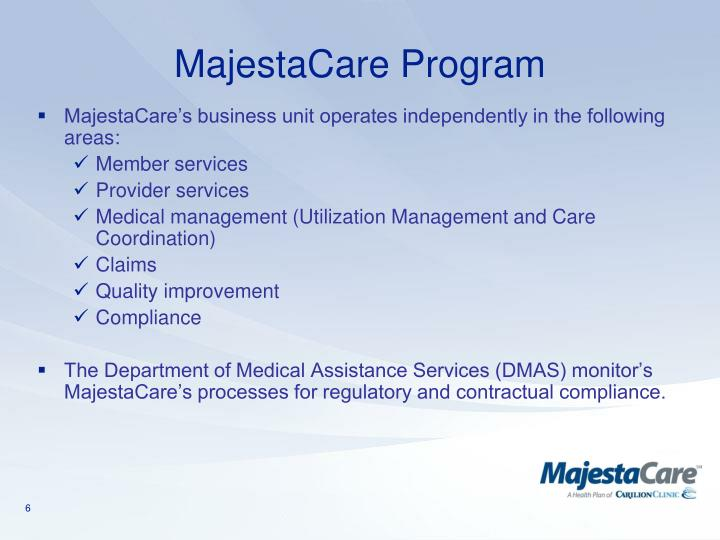 MajestaCare Program