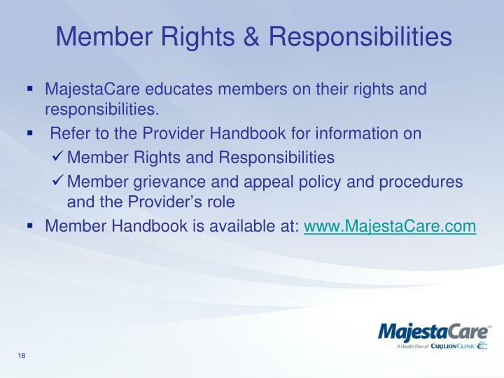 Member Rights & Responsibilities