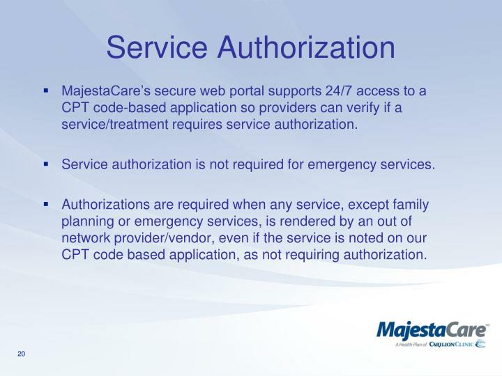 Service Authorization