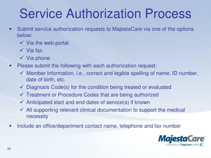Service Authorization Process