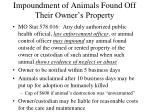 impoundment of animals found off their owner s property