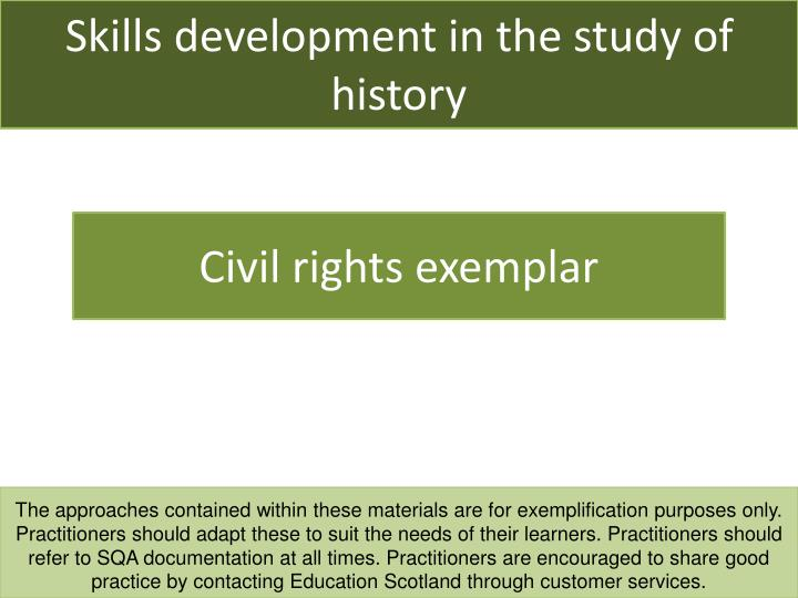 skills development in the study of history n.