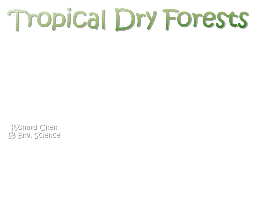 Tropical Dry Forests