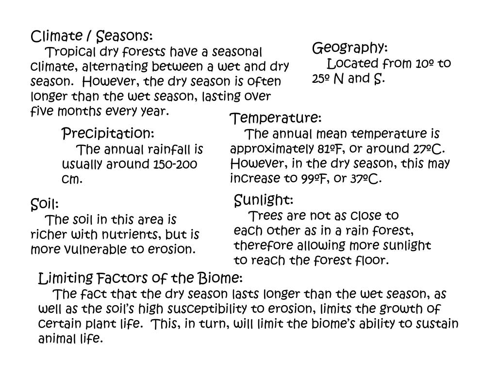 Climate / Seasons: