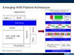 emerging hvm platform architecture