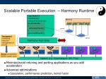 scalable portable execution harmony runtime