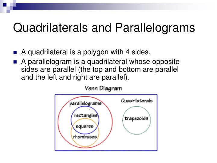 PPT Quadrilaterals PowerPoint Presentation ID 1068760