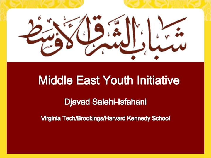 middle east youth initiative n.