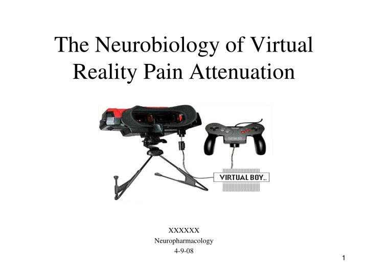 the neurobiology of virtual reality pain attenuation n.