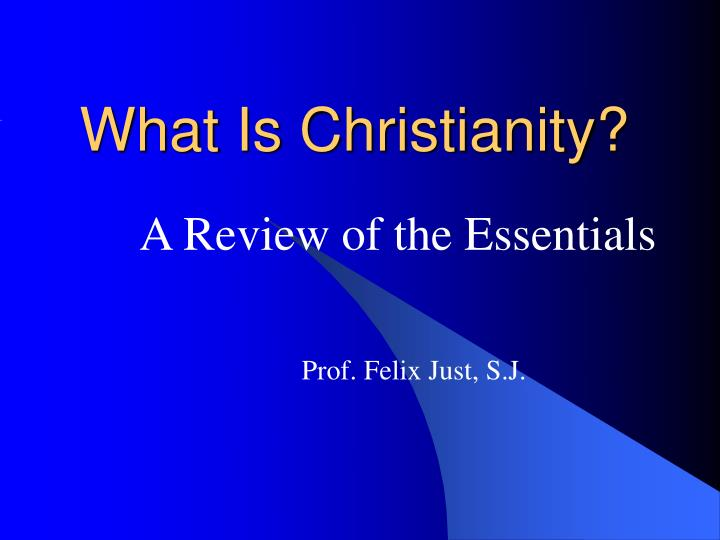 what is christianity n.