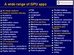 a wide range of gpu apps