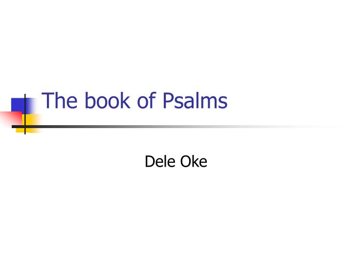 the book of psalms n.
