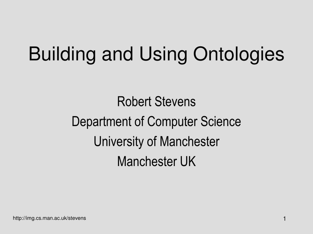building and using ontologies l.