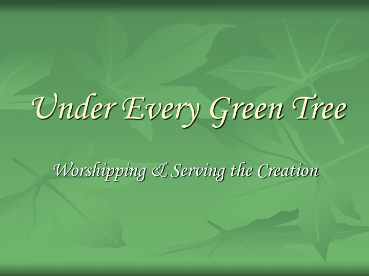 under every green tree n.