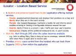 ilocator location based service
