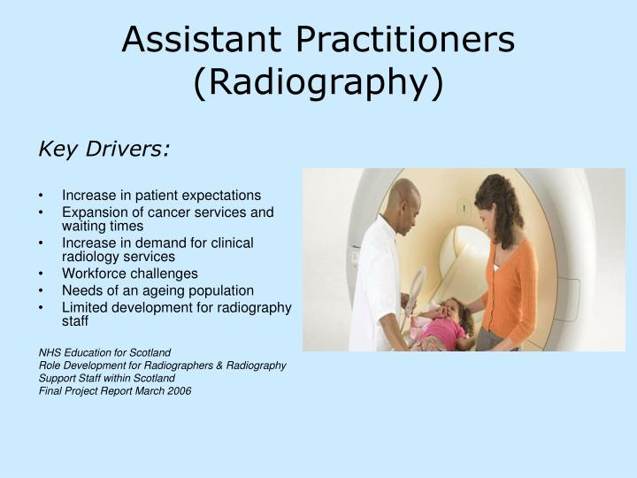 Assistant practitioners radiography