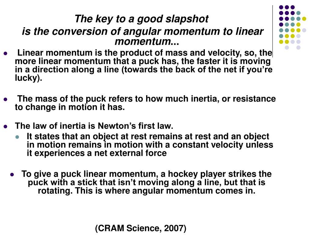 The key to a good slapshot