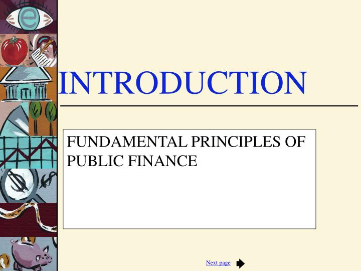 fundamental principles of public finance n.