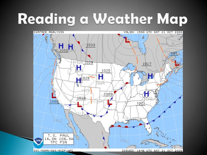reading a weather map n.