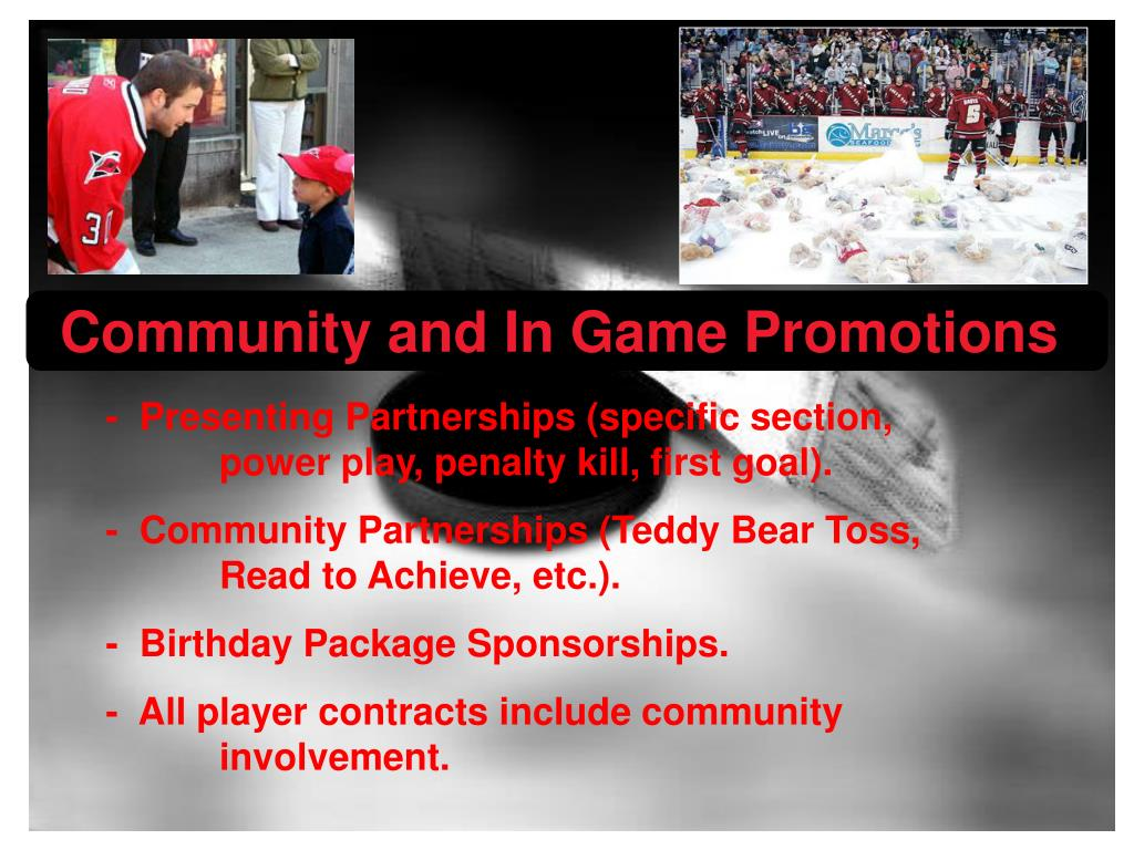 Community and In Game Promotions