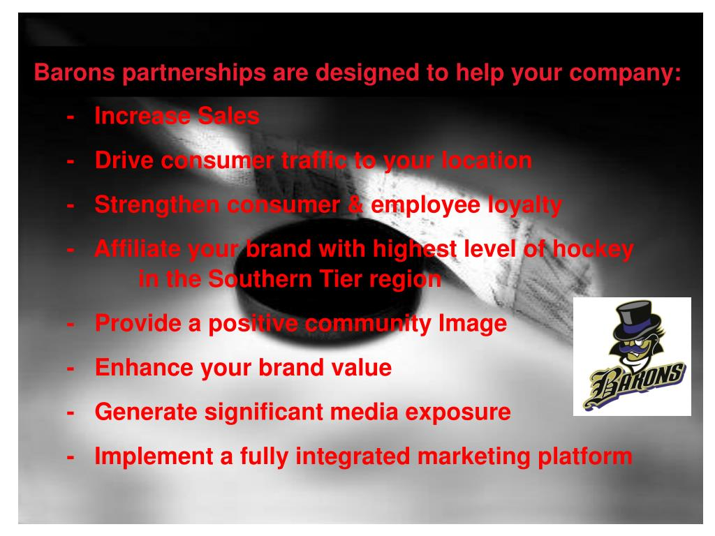 Barons partnerships are designed to help your company: