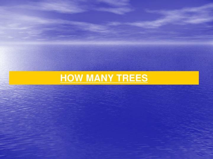 HOW MANY TREES
