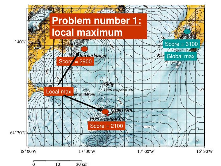 Problem number 1: local maximum